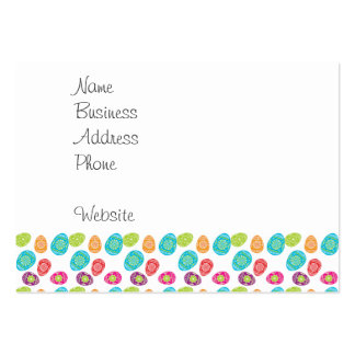 Colorful Spring Easter Eggs Pattern Gifts Business Card Template