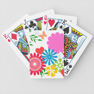 Colorful Spring Floral Bicycle Playing Cards