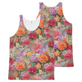 Colorful Spring Flowers All-Over-Print Tank Top