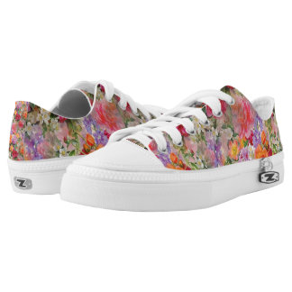 Colorful Spring Flowers Low-Top Sneakers