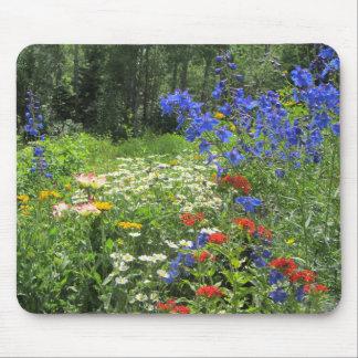 Colorful Spring Garden! Larkspur Blue Mouse Pad