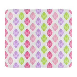 Colorful Spring Leaves Pink Green Purple Pattern Boards