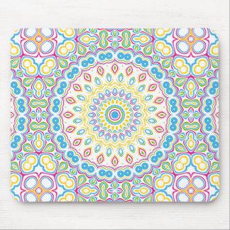 Colorful Spring Mandala Medallion Mouse Pad