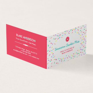 Colorful Sprinkles Homemade Cookie Mix Business Card