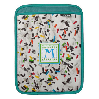 Colorful Sprinkles with Monogram iPad Sleeve
