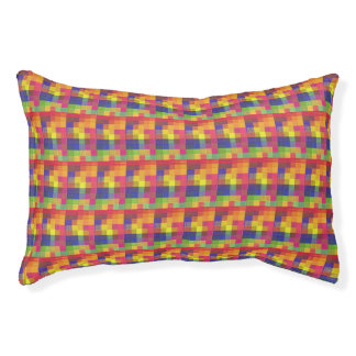Colorful  Square Pattern Dog Bed-Small Pet Bed