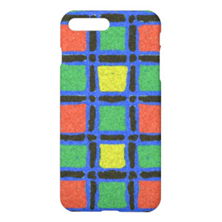 Colorful square pattern iPhone 7 plus case
