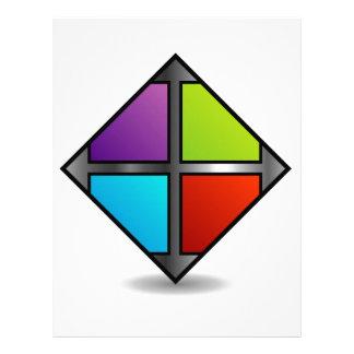 Colorful square personalized letterhead