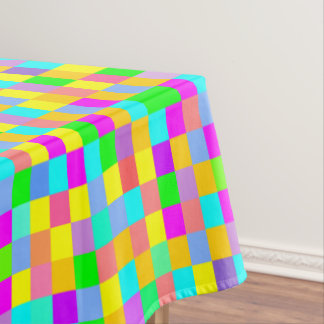 Colorful squared pattern tablecloth