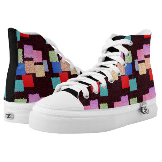 Colorful Squares Shoes