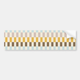 Colorful Squares Tiles Blue Yellow Orange Pink Bumper Sticker
