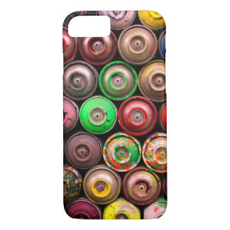 Colorful Stacked Spray Paint Cans iPhone 7 Case