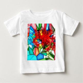 Colorful Stained glass abstract background Baby T-Shirt
