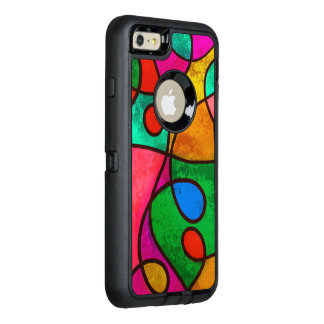 Colorful Stained Glass Abstract OtterBox iPhone 6/6s Plus Case