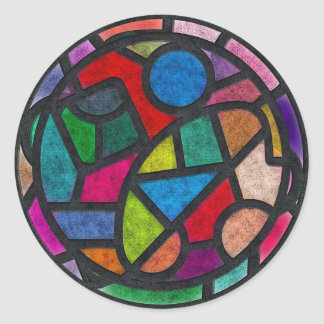 Colorful Stained Glass Art Stickers