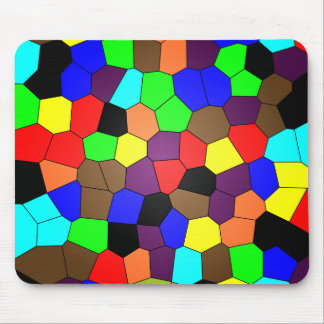 Colorful Stained Glass Mosaic Tiles Mouse Pad