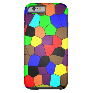 Colorful Stained Glass Mosaic Tiles Tough iPhone 6 Case