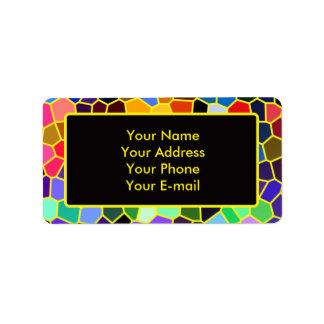 Colorful Stained Glass Rainbow Abstract Mosaic