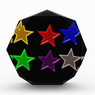 Colorful star buttons