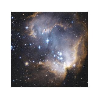 Colorful Star Cluster Nebula Canvas Print