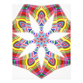 Colorful Star Letterhead Template