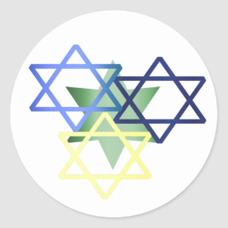 Colorful Star Of David Sticker