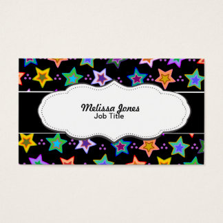 Colorful star pattern business card