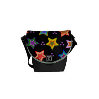 Colorful star pattern courier bag