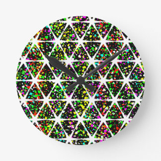 Colorful Star Pattern Round Clock