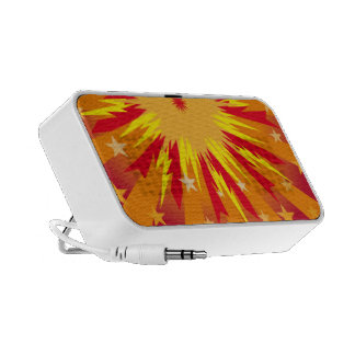 Colorful starburst and stars mp3 speaker