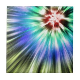 Colorful Starburst Tie Dye Ceramic Tiles