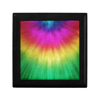 Colorful Starburst Tie Dye Gift Box