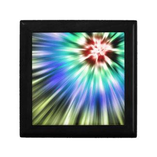 Colorful Starburst Tie Dye Jewelry Box