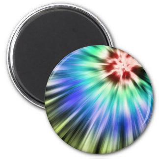 Colorful Starburst Tie Dye Magnet