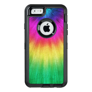 Colorful Starburst Tie Dye OtterBox Defender iPhone Case