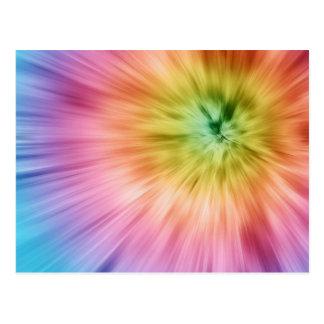 Colorful Starburst Tie Dye Postcard
