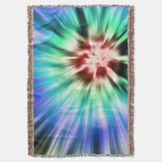 Colorful Starburst Tie Dye Throw Blanket