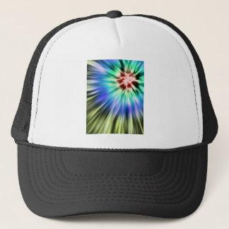 Colorful Starburst Tie Dye Trucker Hat