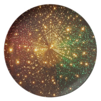 Colorful Starry Sky Dinner Plate