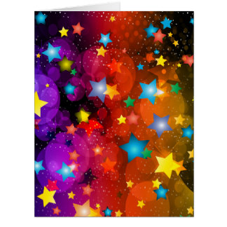 Colorful stars abstract art design card