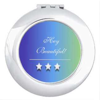 Colorful Stars Compact Mirrors