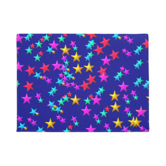COLORFUL STARS DOORMAT