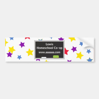 Colorful stars Homes school Co-op Bumper Sticker
