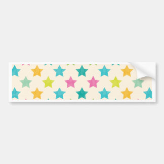 Colorful Stars IV Bumper Sticker
