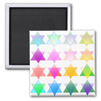 Colorful Stars of David Magnet