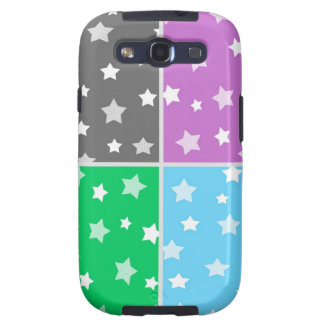Colorful stars pattern illustration samsung galaxy s3 cases