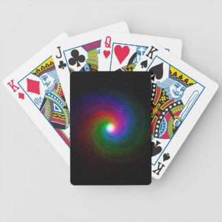 Colorful Stars Swirling Towards a Bright Center Bicycle Playing Cards