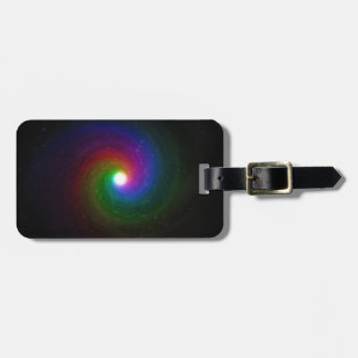Colorful Stars Swirling Towards a Bright Center Luggage Tag