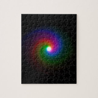 Colorful Stars Swirling Towards a Bright Center Puzzles
