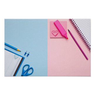 Colorful Sticky Notes on Pastel Background Poster